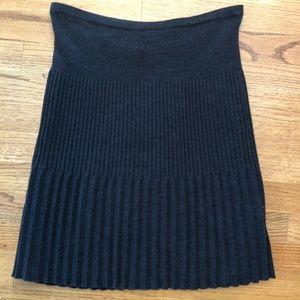 Missoni Skirt Knit 8 Dark Gray Pleated Knee Length
